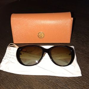 Tory Burch Tortoise White Polarized Sunglasses